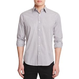 THEORY Gray Sylvain Setauket Button Down Shirt